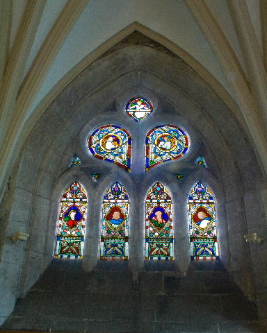 East wall window above balcony
